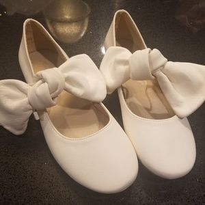 NEW Zara Girls Leather Off White Dress Shoes